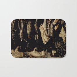 Alonso de Escobar - Still Life, night, art, black Bath Mat