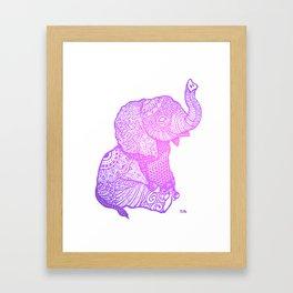 Zen Baby Elephant Framed Art Print