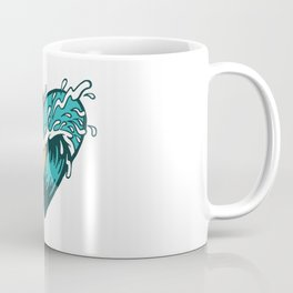 Wave Heart Coffee Mug