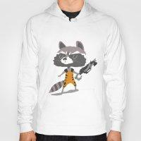 rocket raccoon Hoodies featuring Rocket Raccoon by Rod Perich