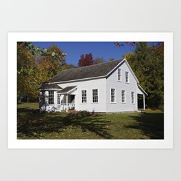 Historic Farmhouse - Caddie Woodlawn House Art Print