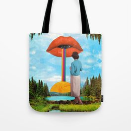 Lips & Rainbow Tote Bag