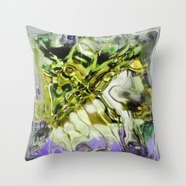 432 - abstract glass design Throw Pillow
