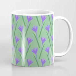 Spring purple Crocuses pattern Coffee Mug