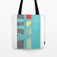 dots Tote Bags featuring DOTS by  ECOLARTE