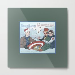 Superheroic Seasons Greetings (Chestnuts Roasting) Metal Print