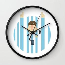 Lionel Messi Argentina Illustration  Wall Clock