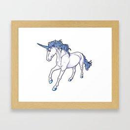 The Unicorn Colored Framed Art Print