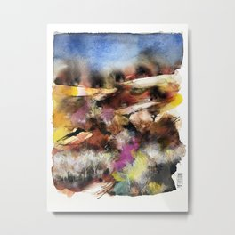 Abstract Tuscan Landscape Metal Print