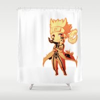 naruto Shower Curtains featuring Naruto  by WTFmoments