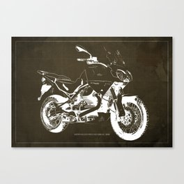 2010 Moto Guzzi Stelvio 1200 4V brown blueprint Canvas Print