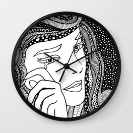 Crying girl. Roy Lichtenstein. Wall Clock