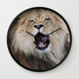 Lion Yawn Wall Clock