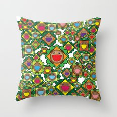 Burgers Everywhere Throw Pillow