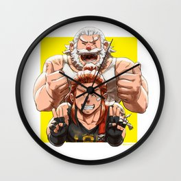 Brigitte and Reinhardt Wall Clock