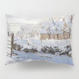 1869-Claude Monet-The Magpie -89 x 130 Pillow Sham