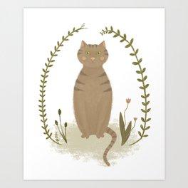 Nature Cat Art Print