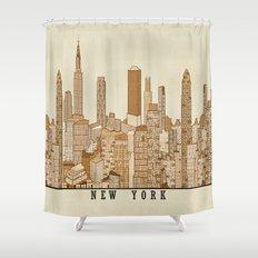 new york vintage (option) Shower Curtain