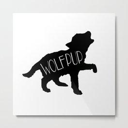 Wolf Pup Metal Print