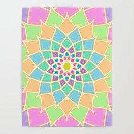 Pastel Lotus Poster