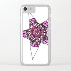 Pink Superstar Mandala Star Clear iPhone Case