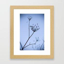 Silhouette on blue Framed Art Print