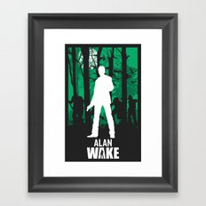Alan Wake Framed Art Print
