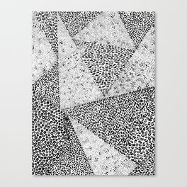 Black Triangle Forms Canvas Print