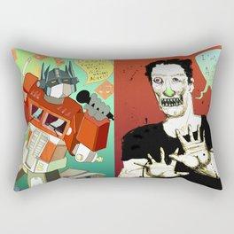 Pop mix of the some of the greats pop culture memories.  Rectangular Pillow
