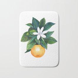 Citrus Flower Bath Mat