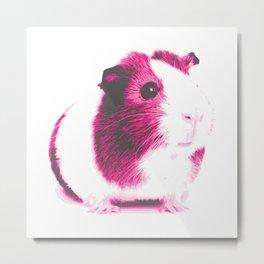Pink guinea pig Metal Print