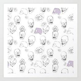 Skulls and Roses Art Print