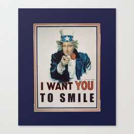 I Want You To Smile Canvas Print