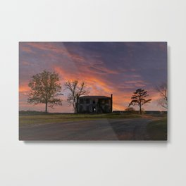 Old House at Sunset Metal Print