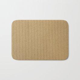 Rustic Cardboard texture Bath Mat