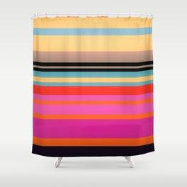 Sunset Stripes Shower Curtain