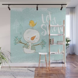 let it snow 4 Wall Mural