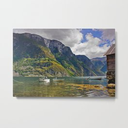 Clear water of fjords Metal Print