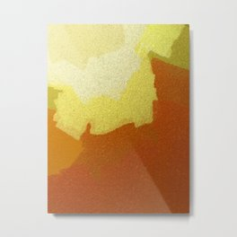 Eggs & Salsa Abstract Glass Metal Print