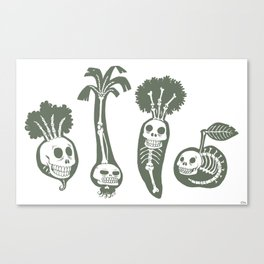 X-rays vegetables (white background) Canvas Print