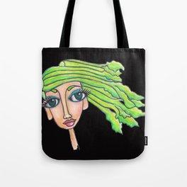 celery girl on black Tote Bag