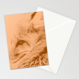 red fox digital acryl painting acrcb Stationery Cards