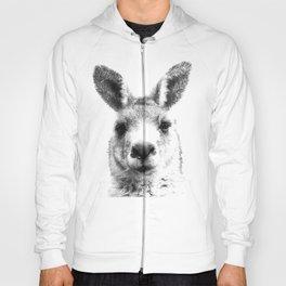 Black and white kangaroo Hoody