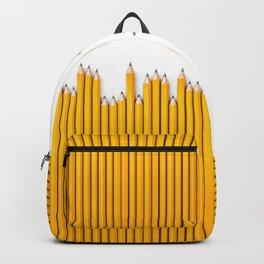 Pencil row / 3D render of very long pencils Backpack