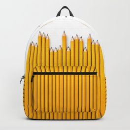 Pencil row / 3D render of very long pencils Backpack
