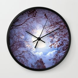 Fascinating Mysterious Earth Satellite Leafless Trees  Wall Clock