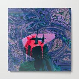 abstract art with black woman Metal Print
