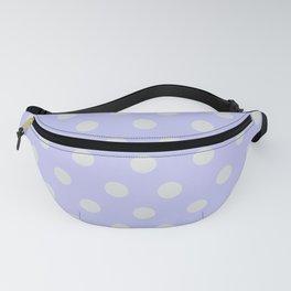 Blue Ultra Soft Lavender Thalertupfen White Pōlka Large Round Dots Pattern Fanny Pack