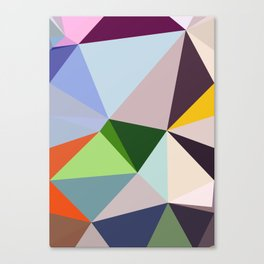 Abstract Geometric Art Colorful Design 6 Canvas Print