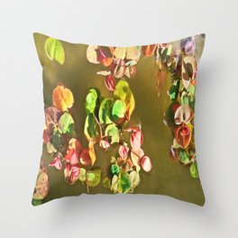 Funny water plants Throw Pillow